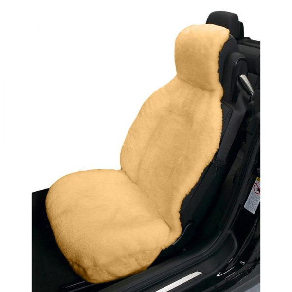 Gray by Eurow Eurow Genuine Australian Sheepskin Sideless Seat Cover