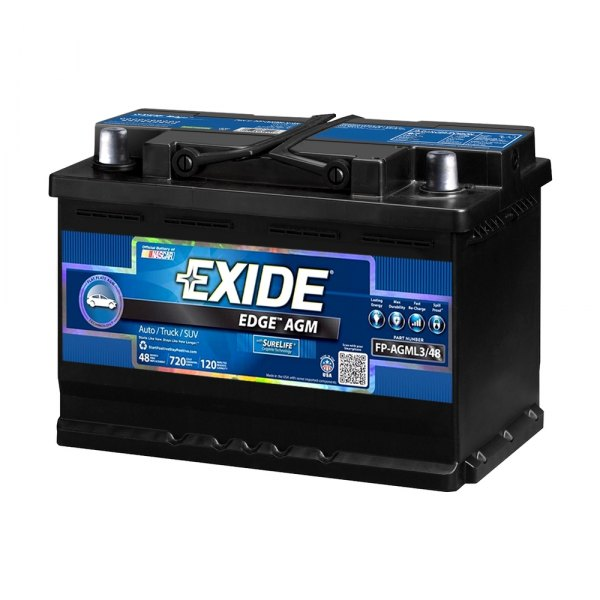 exide audi a4 2009 edge agm battery. Black Bedroom Furniture Sets. Home Design Ideas
