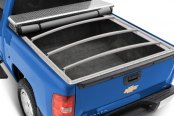 Image may not reflect your exact vehicle! Extang® - Classic Platinum Tool Box™ Snap Tonneau Cover, Open