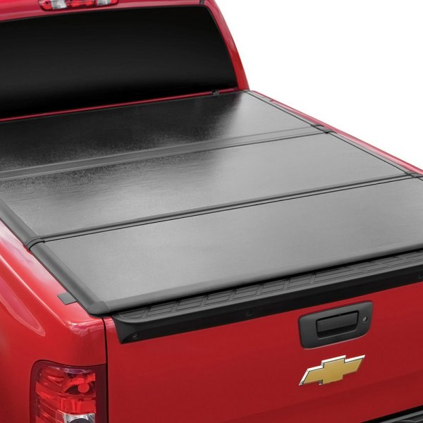Image may not reflect your exact vehicle! Extang® - EnCore Tonno™ Tri-Fold Tonneau Cover, Installed