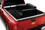 Image may not reflect your exact vehicle! Extang® - FullTilt™ Hinged Snapless Seals Tonneau Cover, In Use