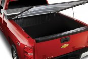 Image may not reflect your exact vehicle! Extang® - FullTilt Tool Box™ Hinged Snapless Seals Tonneau Cover, Open