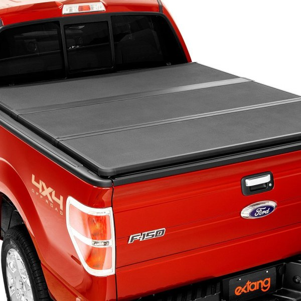 Image may not reflect your exact vehicle! Extang® - Solid Fold 2.0™ Tri-Fold Tonneau Cover, Closed