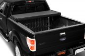 Image may not reflect your exact vehicle! Extang® - Solid Fold™ Tri-Fold Tonneau Cover, Open