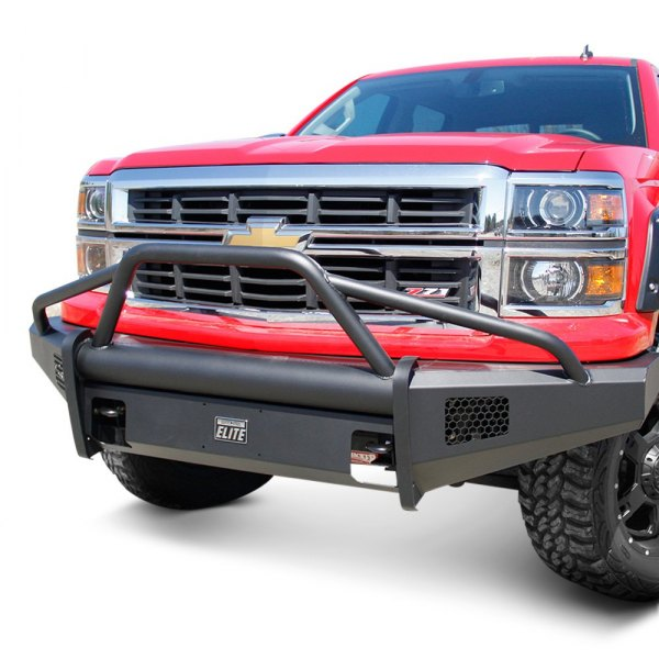 Fab Fours® - Black Steel Elite Full Width Front HD Raw Bumper Image may not reflect your exact vehicle!