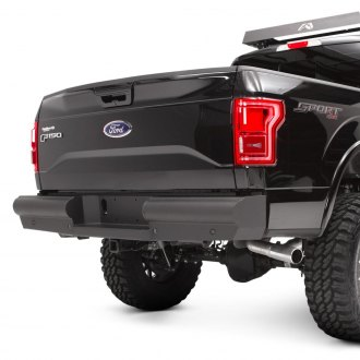 Fab Fours® - Black Steel Elite Full Width Rear HD Bumper