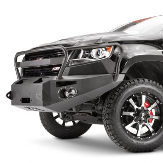 Fab Fours® - Premium Full Width Front HD Winch Bumper with Full Grille Guard