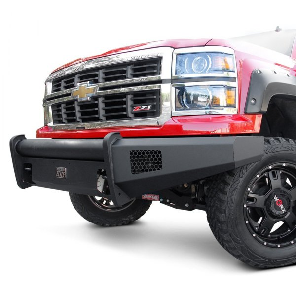 Fab Fours® - Black Steel Elite Full Width Front HD Raw Bumper