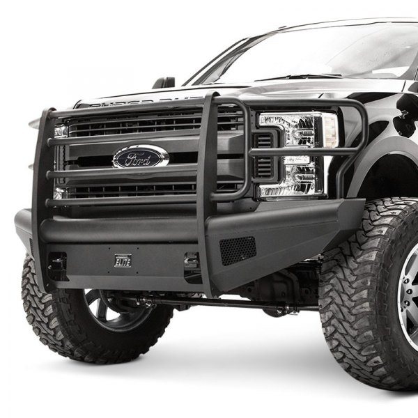 Heavy Duty Front Steel Bumper With Winch Mount Da5645 For: Ford F-350 2017-2018 Black Steel Elite Full
