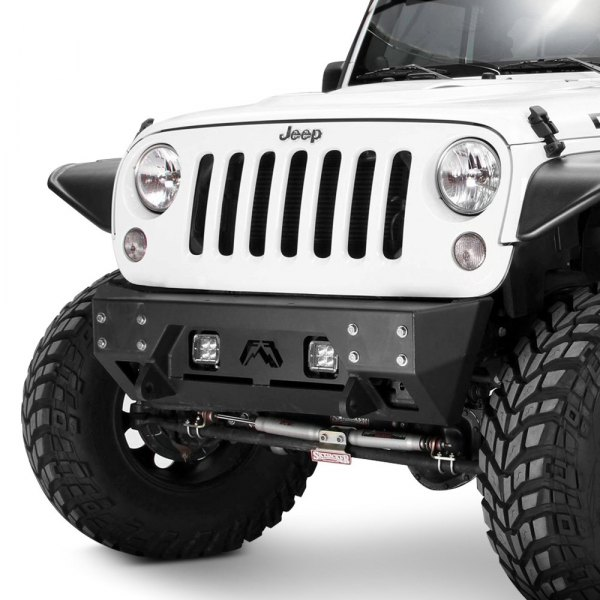 Fab Fours® - Full Metal Jacket Stubby Front HD Black Powder Coat Bumper