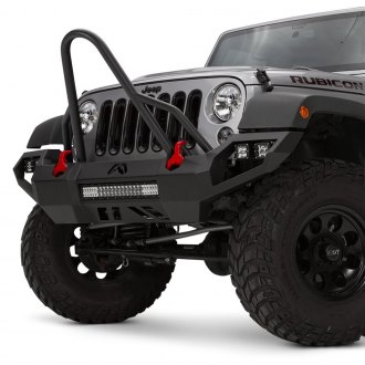 Fab Fours® - Vengeance Full Width Front HD Bumper with Stinger