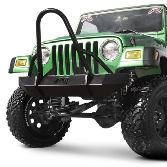 Fab Fours® - Hardcore Mid Width Front Winch HD Bumper with Stinger