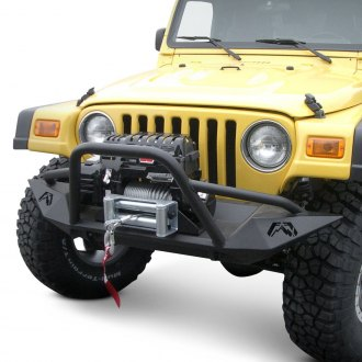 Fab Fours® - Lifestyle Full Width Front Winch HD Bumper with Pre-Runner Guard