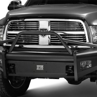 Fab Fours® - Black Steel Elite Front Bumper with Pre-Runner Guard