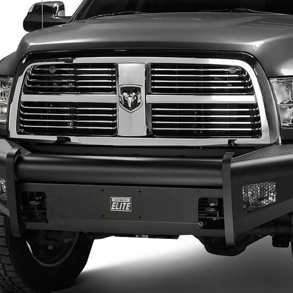 Image may not reflect your exact vehicle!Fab Fours® - Half Ton Black Steel Elite Bare Steel Front Bumper