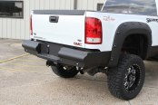 Image may not reflect your exact vehicle!Fab Fours® - Half Ton Black Steel Elite Black Powdercoated Rear Bumper
