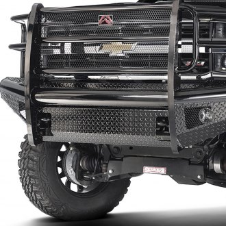 Fab Fours® - Black Steel Front Bumper with Full Grille Guard