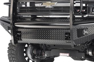Fab Fours® CH14-S3060-1 - Full Size Black Steel Black Powdercoated Front Bumper With Full Grille Guard