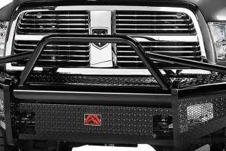 Fab Fours® - Black Steel Front Bumper with Pre-Runner Guard