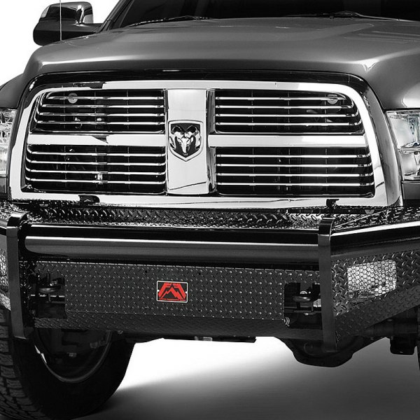 Image may not reflect your exact vehicle!Fab Fours® - Full Size Black Steel Bare Steel Front Bumper