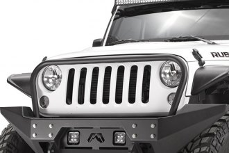 Fab Fours® - Full Metal Jacket Full Width Front Winch Bumper With Grille Guard