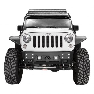 Fab Fours® - Full Metal Jacket Stubby Front HD Winch Bumper