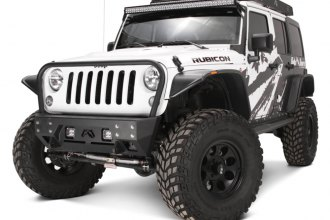 Fab Fours® - Full Metal Jacket Stubby Front Winch Bumper With Grille Guard