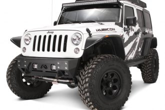 Fab Fours® - Full Metal Jacket Stubby Front Winch Bumper