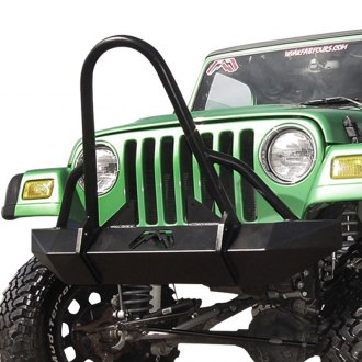 Fab Fours® - Hardcore Front Winch Bumper with Grille Guard