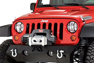Fab Fours® - Hardcore Stubby Front Winch Bumper
