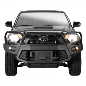 Fab Fours® - Premium Front Winch Bumper with Full Grille Guard