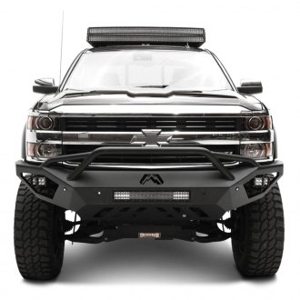 Fab Fours® - Vengeance Full Width Front HD Bumper with Pre-Runner Guard