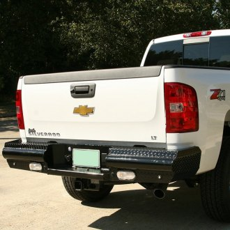 Fab Fours® - Black Steel Full Width Rear HD Bumper