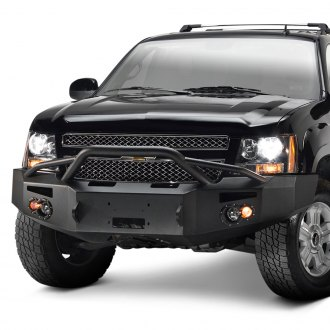 Fab Fours® - Premium Full Width Front Winch HD Bumper with Pre-Runner Guard