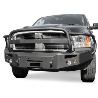 Fab Fours® - Premium Full Width Front Winch HD Bumper with Full Grille Guard