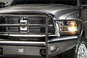 Fab Fours® - Black Steel Elite Full Width Front HD Bare Steel Bumper