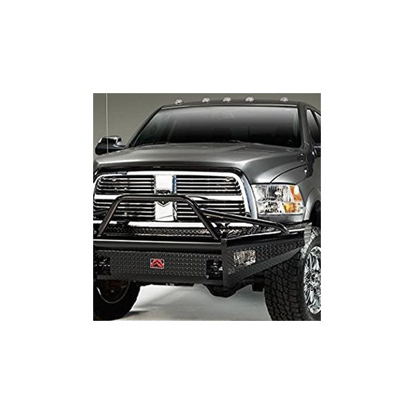 Fab Fours® - Black Steel Full Width Front HD Black Powdercoated Bumper with Pre-Runner Guard