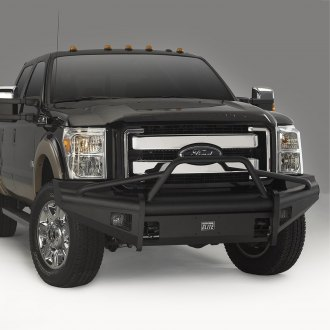 Fab Fours® - Black Steel Elite Full Width Front HD Bumper with Pre-Runner Guard