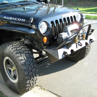 Fab Fours® - Hardcore Stubby Front HD Winch Bumper with Grille Guard