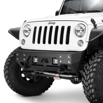 Fab Fours® - Full Metal Jacket Stubby Front Winch HD Bumper