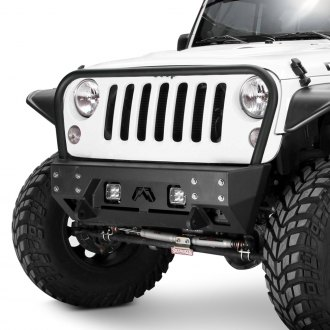Fab Fours® - Full Metal Jacket Stubby Front Winch HD Bumper with Hoop