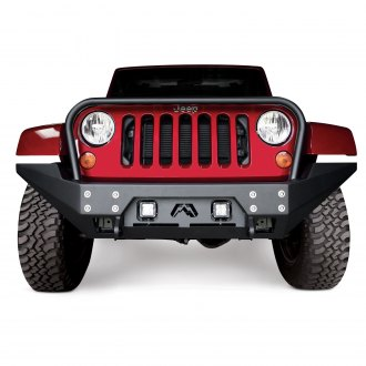 Fab Fours® - Full Metal Jacket Full Width Front Winch HD Bumper with Hoop