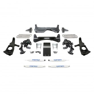 "Fabtech® - 6"" x 4"" Raised Torsion Front and Rear Suspension Lift Kit"
