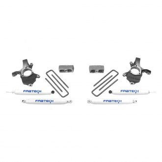 "Fabtech® - 3"" x 1.5"" Spindle Front and Rear Suspension Lift Kit"