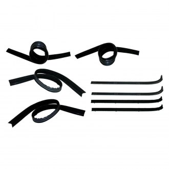 Fairchild® - Front Driver and Passenger Side Inner and Outer Belt Weatherstrip/Window Channel Kit