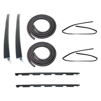Fairchild® - Front and Rear Driver and Passenger Side Inner and Outer Belt Weatherstrip/Window Channel/Door Seal Kit