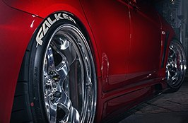 FALKEN® - Tires on Chrome Rim Close-Up 3
