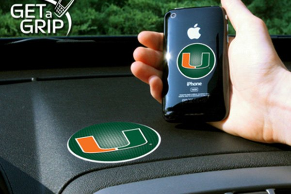 FanMats® - Universal Cell Phone Grips (College, Florida, University of Miami)