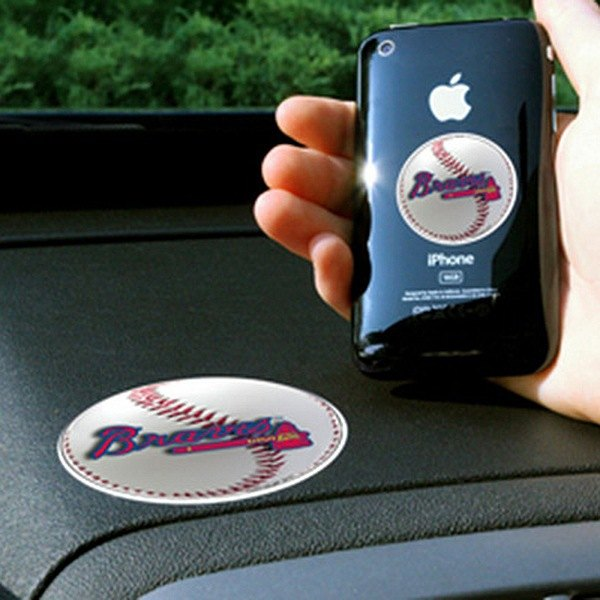 FanMats® - Universal Cell Phone Grips (Sports, MLB, Atlanta Braves)