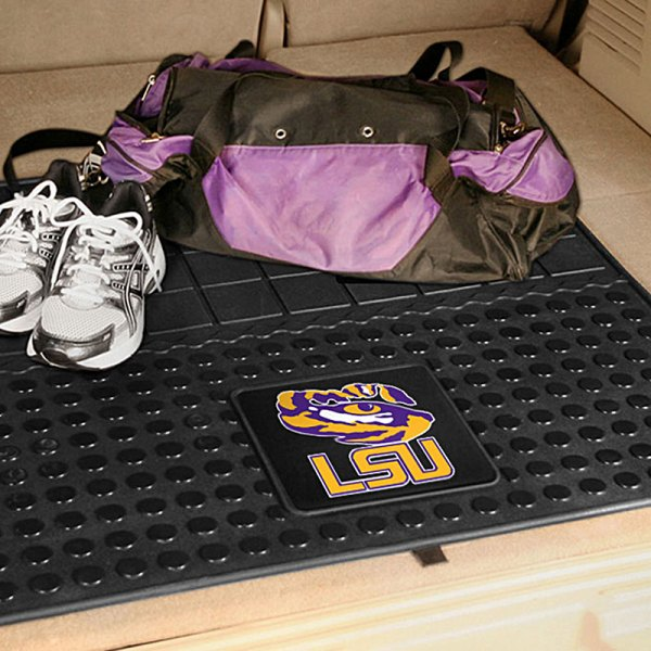 FanMats® Louisiana State University Logo on Heavy Duty Vinyl Cargo Mat